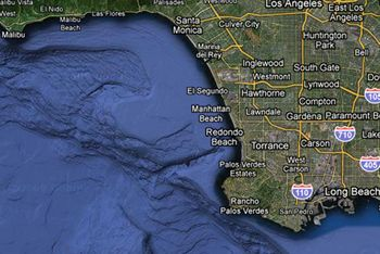 Google map of L.A. coastline