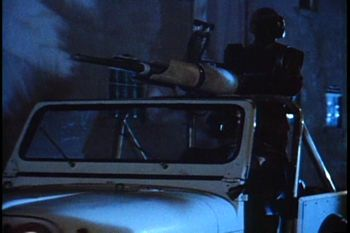 "Jeep-mounted laser gun ""Visitors' Choice"""